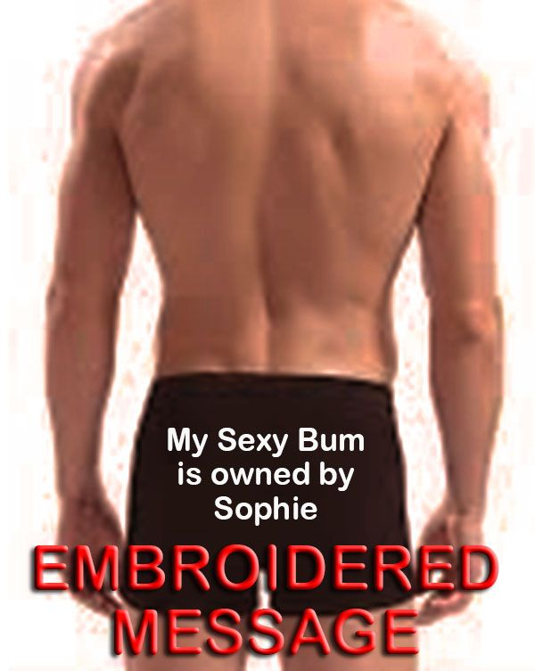 Personalised boxer shorts my sexy bum is owned by for him novelty gift for all occasions